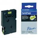 Brother originální páska do tiskárny štítků, Brother, TC-691, černý tisk/žlutý podklad, laminovaná, 7.7m, 9mm