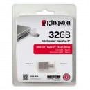 Kingston USB flash disk OTG, 3.1/3.1 Typ C, 32GB, DataTraveler microDuo 3C, průhledný, DTDUO3C/32GB