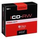 Intenso CD-R, 2801622, 10-pack, 700MB, 12x, 80min., 12cm, bez možnosti potisku, slim case, rewritable, pro archivaci dat