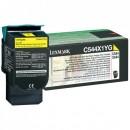Lexmark originální toner C544X1YG, yellow, 4000str., return, extra high capacity, Lexmark X544x