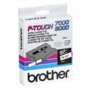Brother originální páska do tiskárny štítků, Brother, TX-221, černý tisk/bílý podklad, laminovaná, 8m, 9mm