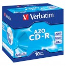 Verbatim 43327, DataLife PLUS, 10-pack, 700 Super Azo, 52x, 80min., CD-R, 12cm, Crystal, bez možnosti potisku, jewel box, Standard