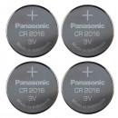 Baterie lithiová, CR2016, 3V, Panasonic, blistr, 4-pack, cena za 1 ks baterie