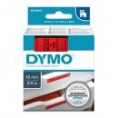 Dymo originální páska do tiskárny štítků, Dymo, 45807, S0720870, černý tisk/červený podklad, 7m, 19mm, D1