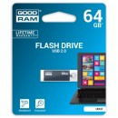 Goodram USB flash disk, 2.0, 64GB, UCU2, šedý, UCU2-0640E0R11