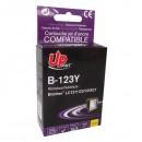 UPrint kompatibilní ink s LC-123Y, yellow, 600str., 10ml, B-123Y, pro Brother MFC-J4510 DW