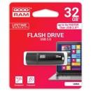 Goodram USB flash disk, 3.0, 32GB, UMM3, černý, UMM3-0320K0R11, podpora OS Win 7
