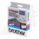 Brother originální páska do tiskárny štítků, Brother, TX-232, červený tisk/bílý podklad, laminovaná, 8m, 12mm