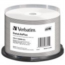 Verbatim 43745, DataLife PLUS, 50-pack, 700 52X, Professional, 80min., CD-R, 12cm, Wide Inkjet Professional, Printable, cake box