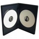 Box na 2 ks DVD, černý, slim, No Name, 7mm, cena za 1ks, baleno po 100ks