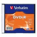 Verbatim DVD-R, 43547, DataLife PLUS, 20-pack, 4.7GB, 16x, 12cm, General, Standard, slim box, Matte Silver, bez možnosti potisku