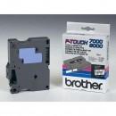 Brother originální páska do tiskárny štítků, Brother, TX-131, černý tisk/průsvitný podklad, laminovaná, 8m, 12mm