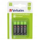 Baterie Ni-MH, AAA nabíjecí, 1.2V, 950 mAh, Verbatim, blistr, 4-pack, cena za 1 ks