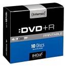 Intenso DVD+R, 4811652, 10-pack, 4.7GB, 16x, 12cm, Standard, slim case, printable
