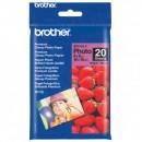 "Brother Premium Glossy Photo Paper, foto papír, lesklý, bílý, 10x15cm, 4x6"", 190 g/m2, 20 ks, BP61GLP, inkoustový"