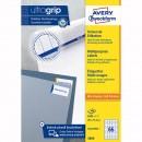 Avery Zweckform etikety 38 x 21.2 mm, A4, bílé, 65 etiket, baleno po 100 ks, 3666, pro laserové a inkoustové tiskárny, kopírky