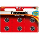 Baterie lithiová, CR2032, 3V, Panasonic, blistr, 6-pack, cena za 1 ks baterie