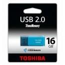 Toshiba USB flash disk, 2.0, 16GB, U202, Hayabusa, modrý, THN-U202L0160E4, pro archivaci dat