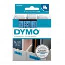 Dymo originální páska do tiskárny štítků, Dymo, 45016, S0720560, černý tisk/modrý podklad, 7m, 12mm, D1