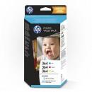 HP Photo Value, HP 364, foto papír, bílý, T9D88EE