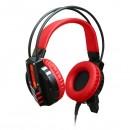 Redragon, CHRONOS herní sluchátka s mikrofonem, ovládání hlasitosti, černá, 3.5 mm jack + USB