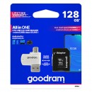 Goodram All-In-ONe, 128GB, multipack, M1A4-1280R11, UHS-I U1 (Class 10), se čtečkou a adaptérem