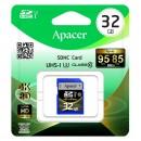 Apacer paměťová karta Secure Digital, 32GB, SDHC, AP32GSDHC10U4-R, UHS-I U3