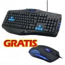 E-BLUE Klávesnice Cobra, herní, černá, drátová (USB), CZ/SK, s myší Cobra II, podsvícené okraje