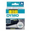 Dymo originální páska do tiskárny štítků, Dymo, 40918, S0720730, černý tisk/žlutý podklad, 7m, 9mm, D1