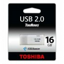Toshiba USB flash disk, 2.0, 16GB, U202, Hayabusa, bílý, THN-U202W0160E4, pro archivaci dat