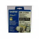 Brother papírové štítky 62mm x 100mm, bílá, 300 ks, DK11202, pro tiskárny řady QL