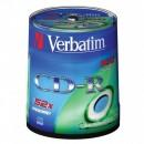 Verbatim CD-R, 43411, DataLife, 100-pack, 700MB, Extra Protection, 52x, 80min., 12cm, bez možnosti potisku, cake box, Standard, pr