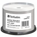 Verbatim 43653, DataLife, 50-pack, 700 Wide Silver, 52X, No ID Brand, 80min., CD-R, 12cm, Inkjet, Printable, cake box, Standard, p