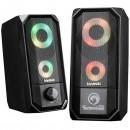 Marvo reproduktory SG-265, 2.0, 6W, černé, regulace hlasitosti, herní, 160Hz-20kHz, RGB podsvícení