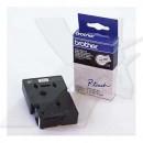 Brother originální páska do tiskárny štítků, Brother, TC-201, černý tisk/bílý podklad, laminovaná, 8m, 12mm