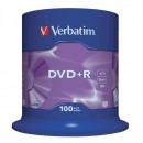 Verbatim DVD+R, 43551, DataLife PLUS, 100-pack, 4.7GB, 16x, 12cm, General, Advanced Azo+, cake box, Scratch Resistant, bez možnost