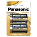 Baterie alkalická, D, LR20, 1.5V, Panasonic, blistr, 2-pack, cena za 1 ks baterie