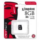 Kingston Micro Secure Digital card, 8GB, micro SDHC, SDCIT/8GBSP, UHS-I U1 (Class 10), bez adaptéru