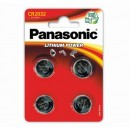 Baterie lithiová, CR2032, 3V, Panasonic, blistr, 4-pack, cena za 1 ks baterie
