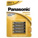 Baterie alkalická, AAA, 1.5V, Panasonic, blistr, 4-pack, Bronze, cena za 1 ks baterie