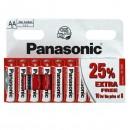 Baterie zinkouhlíková, AA, 1.5V, Panasonic, blistr, 10-pack, cena za 1 ks baterie