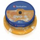 Verbatim DVD-R, 43522, DataLife PLUS, 25-pack, 4.7GB, 16x, 12cm, General, Advanced Azo+, cake box, Scratch Resistant, bez možnosti
