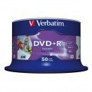 Verbatim DVD+R, 43512, DataLife PLUS, 50-pack, 4.7GB, 16x, 12cm, Professional, Advanced Azo+, cake box, Wide Printable