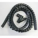 Svazkovací spirála + constrictor, 15-50mm, černá, 2m, (15mm pr.), Logo