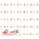 Přelepky LOGO na klávesnice, červené, polské, cena za 1 ks, minimální odběr 4 ks