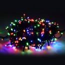 LED osvětlení, řetěz, 10m, 220-240 V (50-60Hz), 6W, multicolor, zelený kabel, 30000h, 100xLED