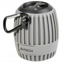 A4Tech reproduktor BTS-07, Li-Ion, 1.0, 3W, šedý, regulace hlasitosti, přenosný, voděodolný