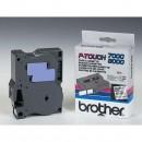 Brother originální páska do tiskárny štítků, Brother, TX-151, černý tisk/průsvitný podklad, laminovaná, 8m, 24mm