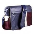 Taška na fotoaparát, eko kůže/polyester, modrá, Urban Nomad Wind M, s popruhem, Smile