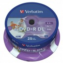 Verbatim DVD+R, 43667, DataLife PLUS, 25-pack, 8.5GB, 8x, 12cm, General, Double Layer, cake box, Wide Printable